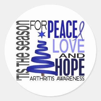 Artritis del día de fiesta del navidad de la esper etiquetas