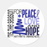 Artritis del día de fiesta del navidad de la etiquetas redondas