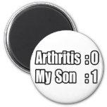 Artritis del golpeo de mi hijo imanes de nevera