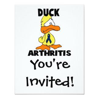 """Artritis del pato invitación 4.25"""" x 5.5"""""""