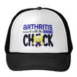Artritis ensuciada con el polluelo incorrecto gorros bordados