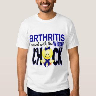 Artritis ensuciada con el polluelo incorrecto remera