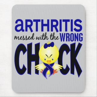 Artritis ensuciada con el polluelo incorrecto alfombrilla de raton
