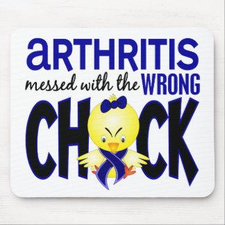 Artritis ensuciada con el polluelo incorrecto tapetes de raton