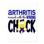 Artritis ensuciada con el polluelo incorrecto tarjetas postales