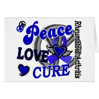 Artritis reumatoide de la curación 2 del amor de l tarjeta de felicitación