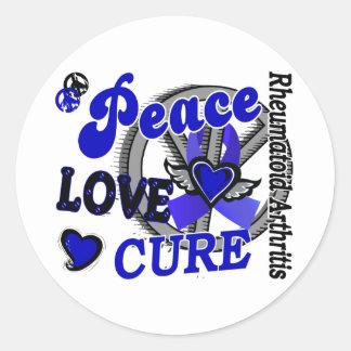 Artritis reumatoide de la curación 2 del amor de pegatinas redondas