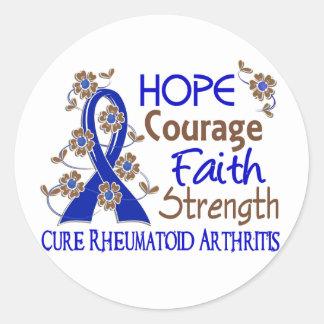 Artritis reumatoide de la fuerza 3 de la fe del etiqueta redonda