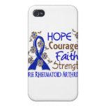 Artritis reumatoide de la fuerza 3 de la fe del va iPhone 4 funda