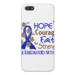 Artritis reumatoide de la fuerza 3 de la fe del va iPhone 5 carcasas