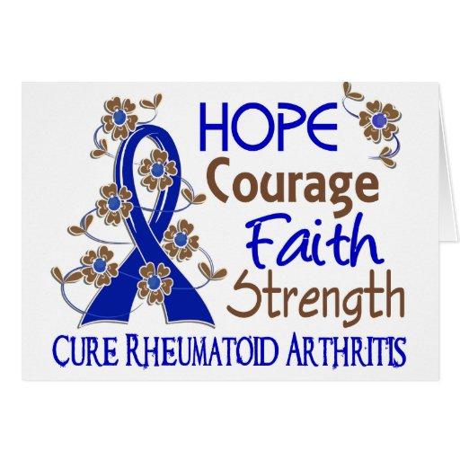 Artritis reumatoide de la fuerza 3 de la fe del va tarjeton