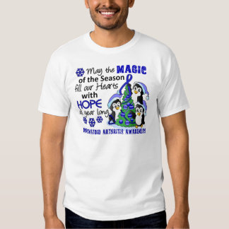 Artritis reumatoide de los pingüinos del navidad camisas