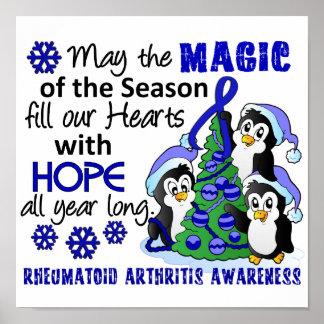 Artritis reumatoide de los pingüinos del navidad impresiones