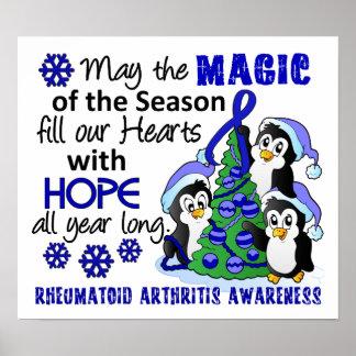 Artritis reumatoide de los pingüinos del navidad posters