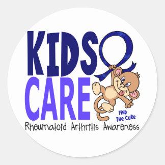Artritis reumatoide del cuidado 1 de los niños etiqueta redonda