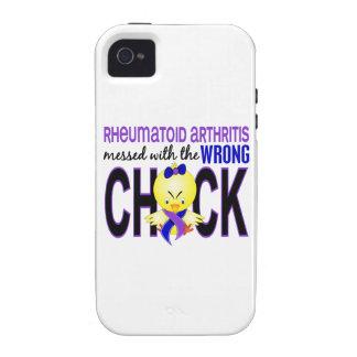 Artritis reumatoide ensuciada con el polluelo iPhone 4/4S carcasa