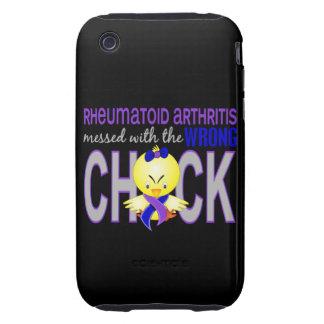Artritis reumatoide ensuciada con el polluelo iPhone 3 tough carcasa