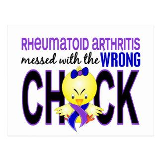 Artritis reumatoide ensuciada con el polluelo postales