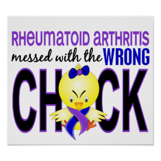 Artritis reumatoide ensuciada con el polluelo póster