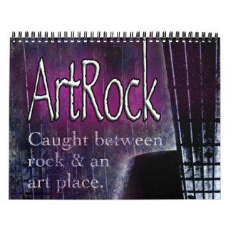 ArtRock Calendar, graphic designs-rock instruments