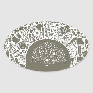 Arts a head oval sticker