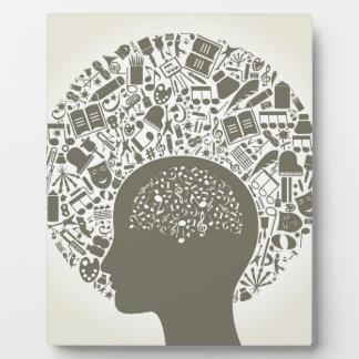 Arts a head plaque