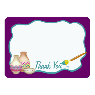 Arts and Craft Paint Party Flat Card Thank You