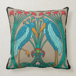 Arts and Crafts Cranes (20 inch square) Throw Pillow