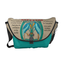 Arts and Crafts Cranes (Personalized) Messenger Bag
