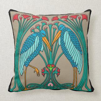 Arts and Crafts Cranes Throw Pillow