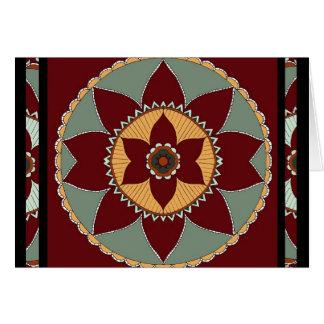 Arts and Crafts Flower Mandala-greeting card