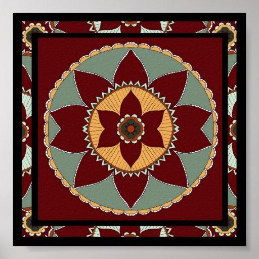 Arts and Crafts Flower Mandala-print