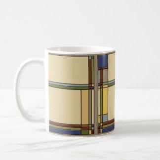 Arts and Crafts Geometric in Fall Colors var. 1 Coffee Mug