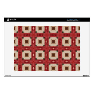 Arts and Crafts Geometric Tile Pattern Decals For Laptops