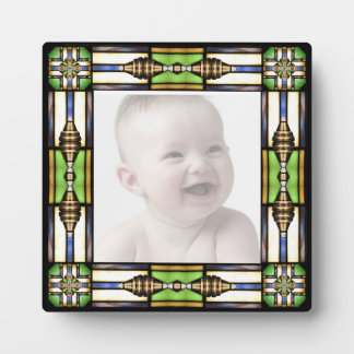 Arts and Crafts Glass Style Picture Plaque