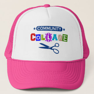 Arts and Crafts Humor Collage Pun Trucker Hat