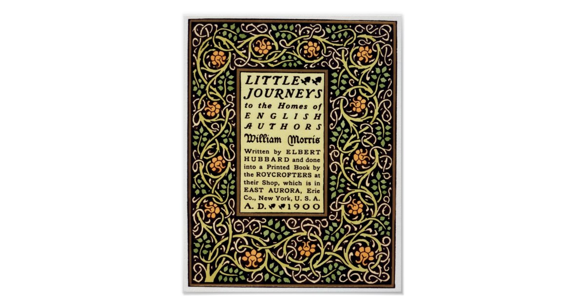 Art And Craft Book Cover : Arts and crafts movement book cover design poster