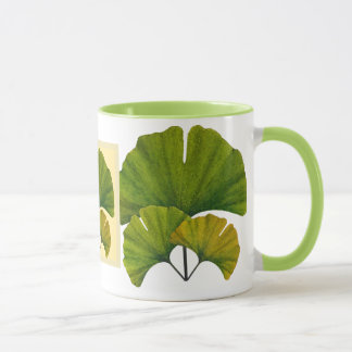 Arts and Crafts Movement Ginko Leaves Mug