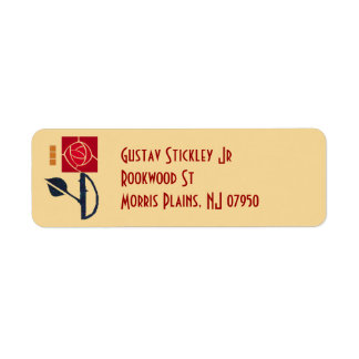 Arts and Crafts Rose Address Label
