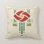 Arts and Crafts Rose Pillow