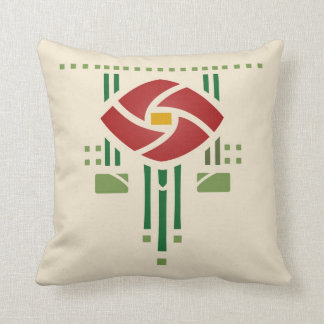 Arts and Crafts Rose Throw Pillow
