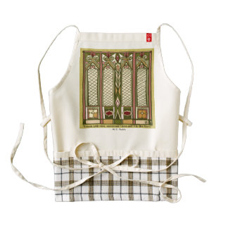 Arts and crafts style Apron with a touch of humor.