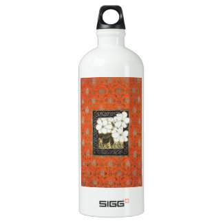 Arts and crafts style book cover with flowers SIGG traveler 1.0L water bottle