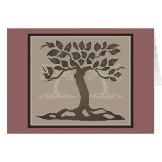 Arts and Crafts Trees Card