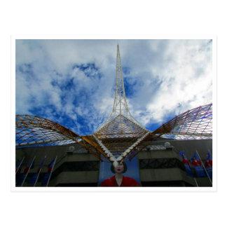 arts centre clouds postcard