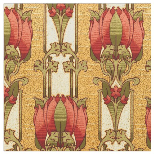Arts & Crafts, Craftsman or Mission Style Flowers Fabric