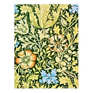 Arts Crafts Floral Design Postcard