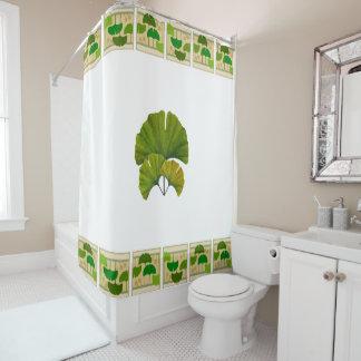 Arts U0026amp; Crafts Ginkgo Design Shower Curtain