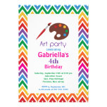 Arts & Crafts Kids Paint Birthday Party Announcements