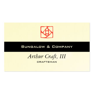 Arts & Crafts Ornament (flower) Double-Sided Standard Business Cards (Pack Of 100)